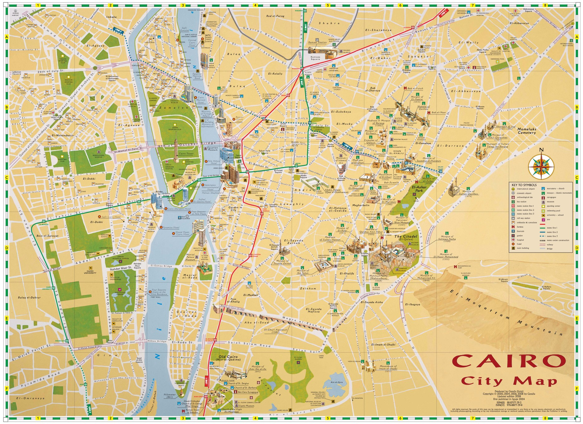 Geodia Guide e Libri sul Mondo | CAIRO CITY MAP