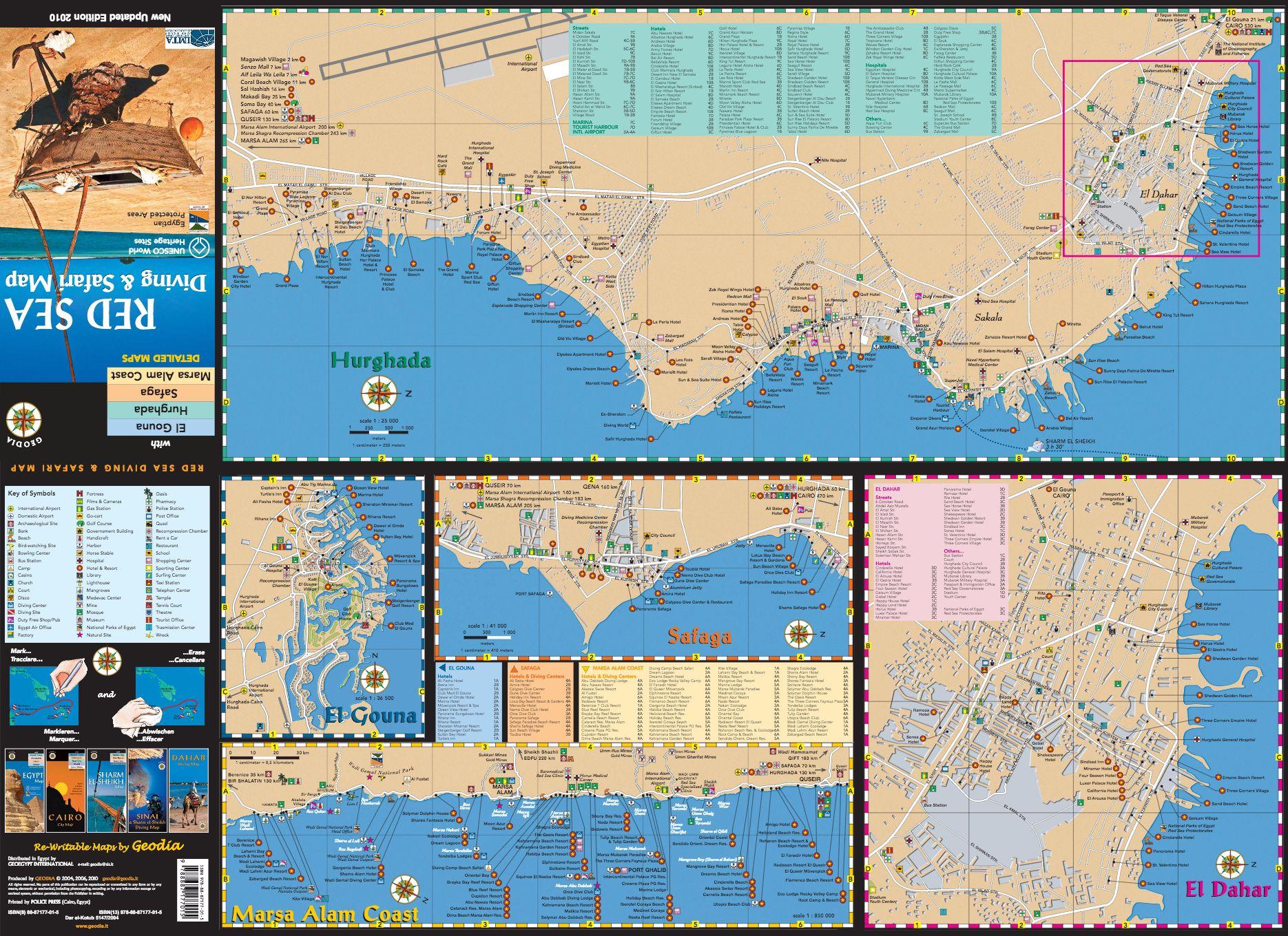 Geodia Guide E Libri Sul Mondo RED SEA DIVING SAFARI MAP - Map of egypt marsa alam